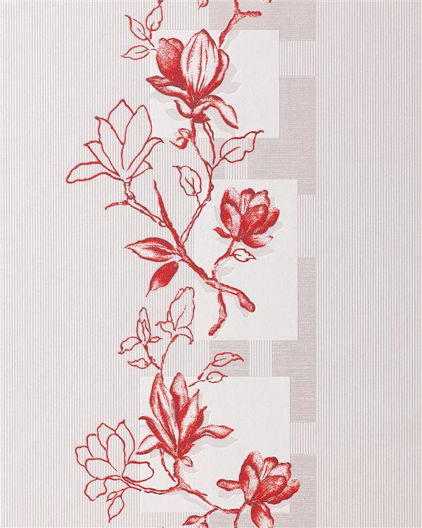 Edem 063 20 ausverkauf vinyl tapete rot silber design for Tapete rot silber