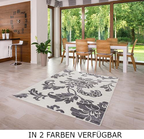 teppich kurzflor grau wei 60 80 120 140 160 200 l11 ebay. Black Bedroom Furniture Sets. Home Design Ideas