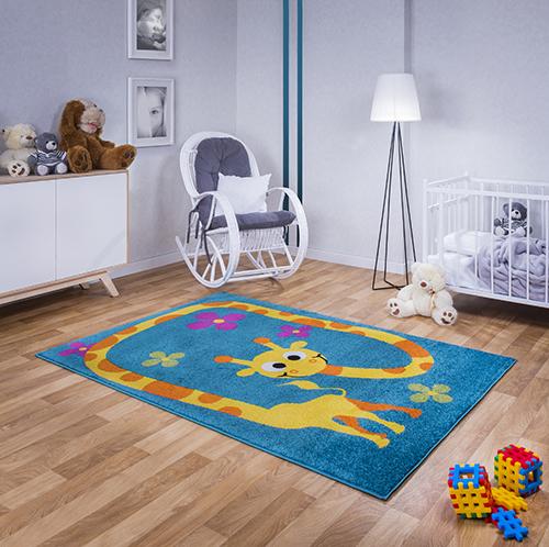 kinder teppich kurzflor gemustert kinderzimmer junge m dchen 4901 blau ebay. Black Bedroom Furniture Sets. Home Design Ideas